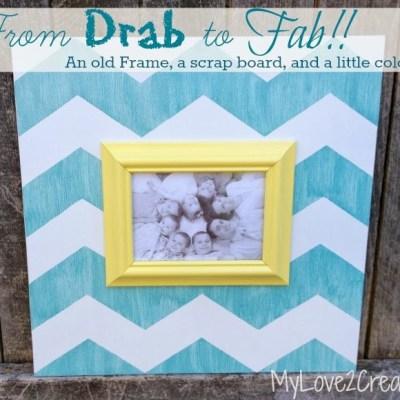 Chevron Picture Frame Ideas – Drab To Fab
