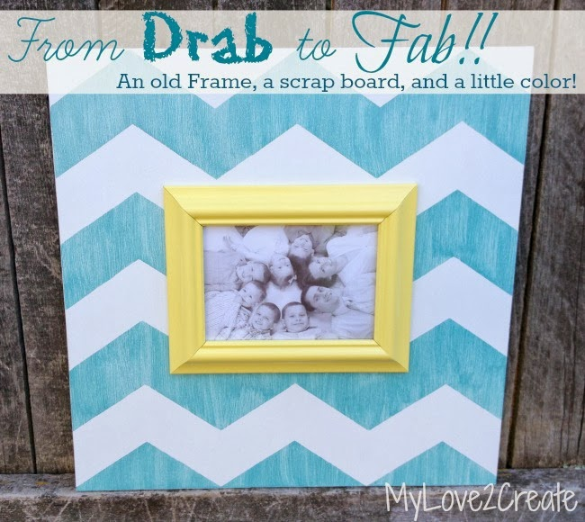 Chevron Upcycled Picture Frame - MyLove2Create