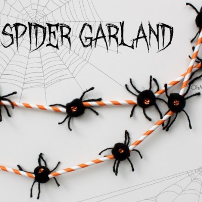 Not So Scary Spider Garland – Cute Halloween Decor