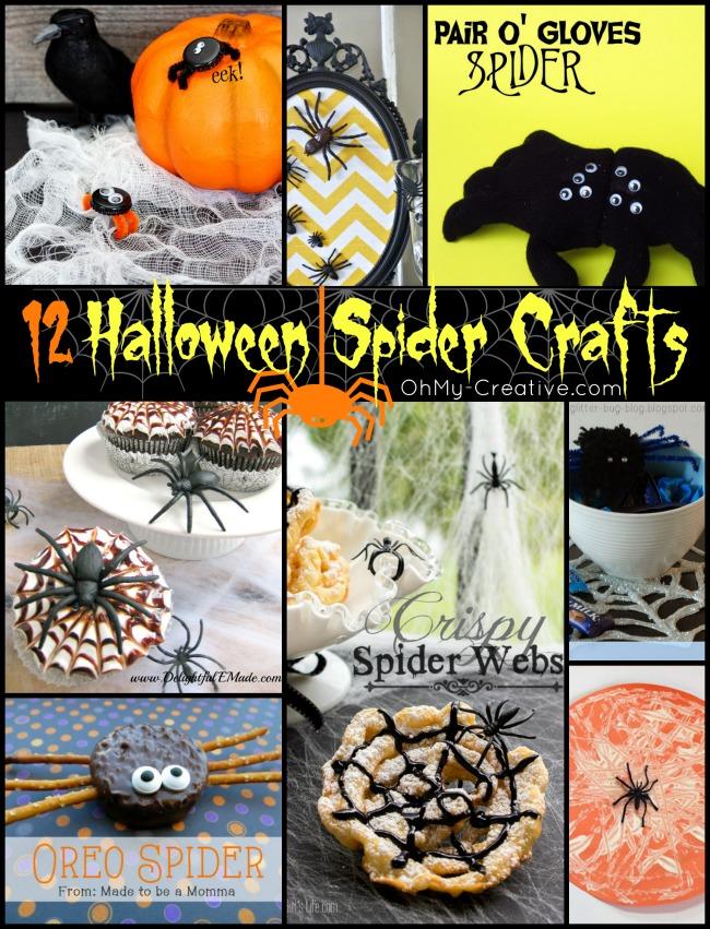 More than 12 Halloween Spider Craft Ideas - OhMy-Creative.com | Spider Crafts for Preschool | Halloween Spider Craft recipes | Halloween crafts | #spidercraftideas #halloweencrafts #preschoolcrafts #spiders #spidercrafts #kidscrafts