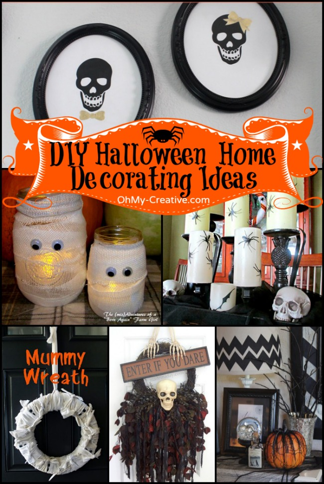 16 Do It Yourself Halloween Home Decorating Ideas - OhMy-creative.com