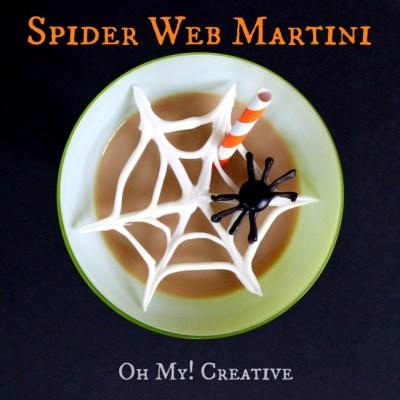 Chocolate Spider Web Halloween Martinis