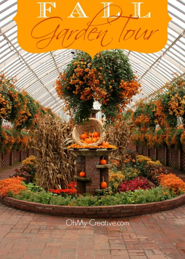 Pumpkin Cornucopia Garden - OhMy-Creative.com