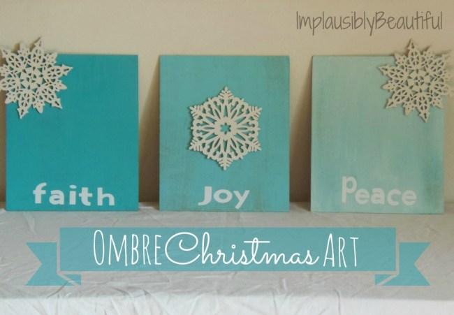 Ombre Christmas Art