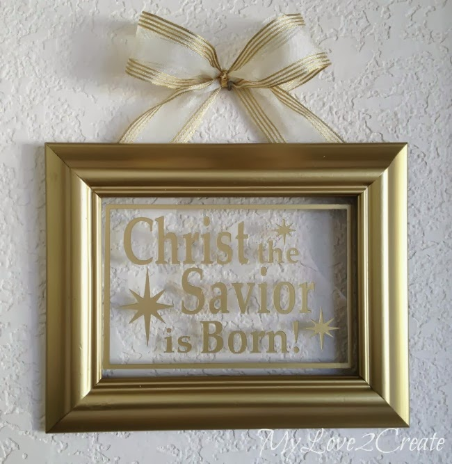 Gold Painted Christmas Frame - MyLove2Create