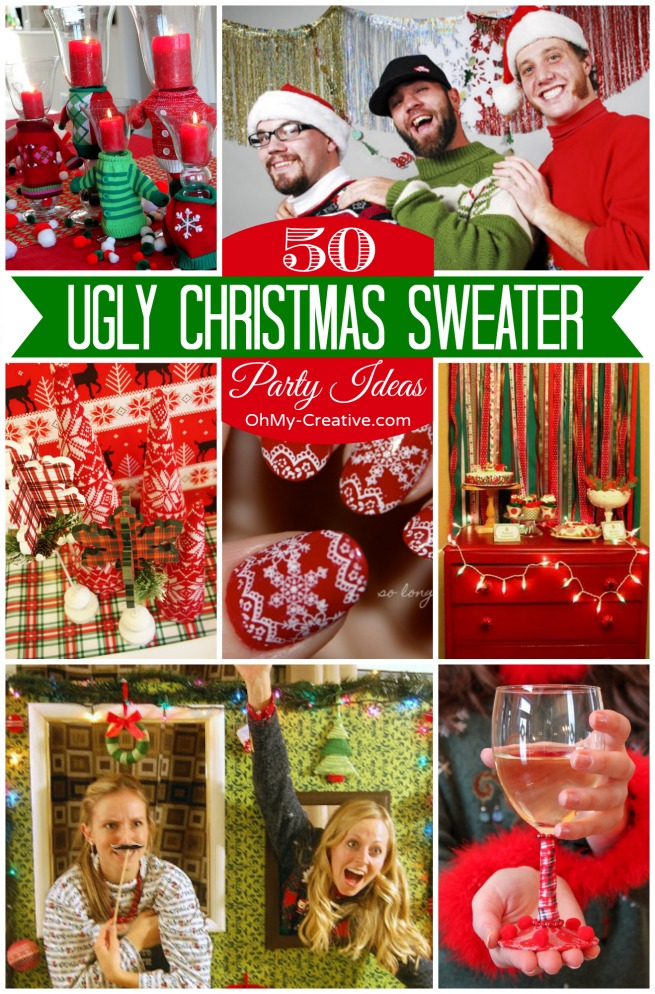 50 ugly christmas sweater party ideas ohmy creativecom - Ugly Christmas Sweater Party Decorations