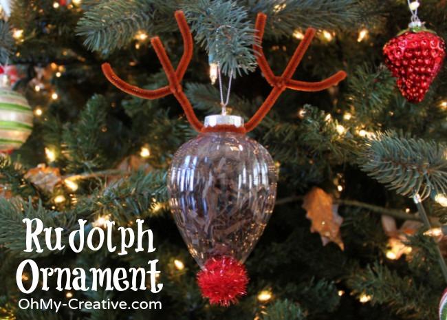 Rudolph Ornament Kids Craft  |  OhMy-Creative.com