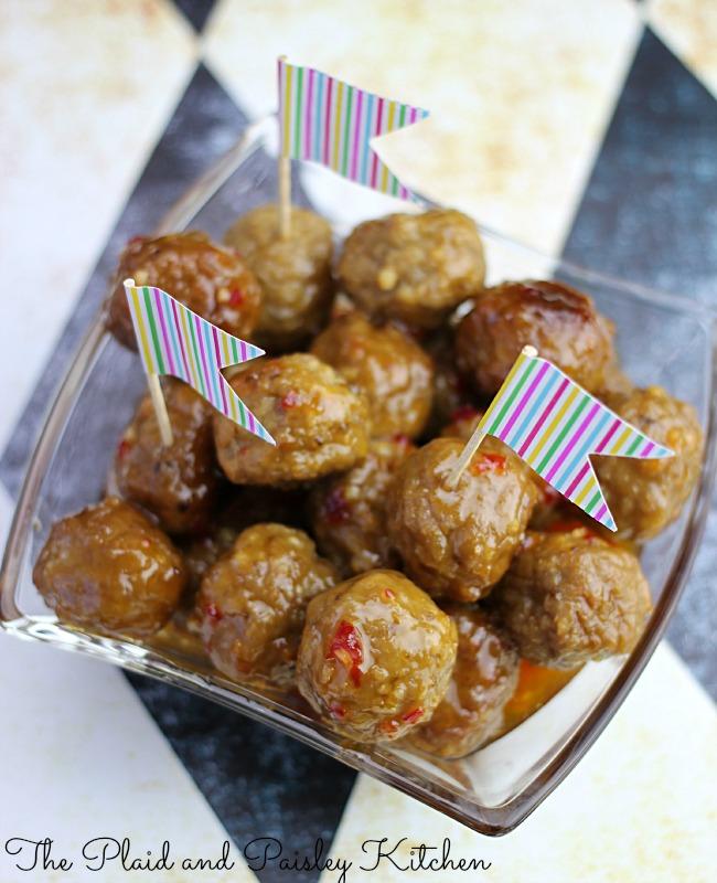 Thai Meatball Mania Appetizer | 30 Graduation Party Food Ideas | OHMY-CREATIVE.COM