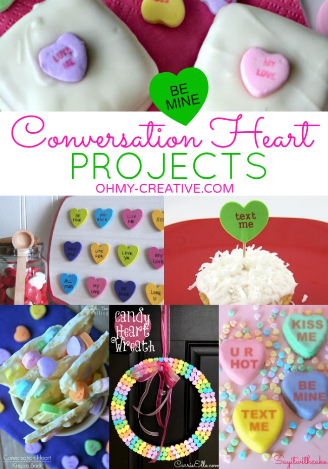 Conversation Heart Crafts and Desserts   OHMY-CREATIVE.COM