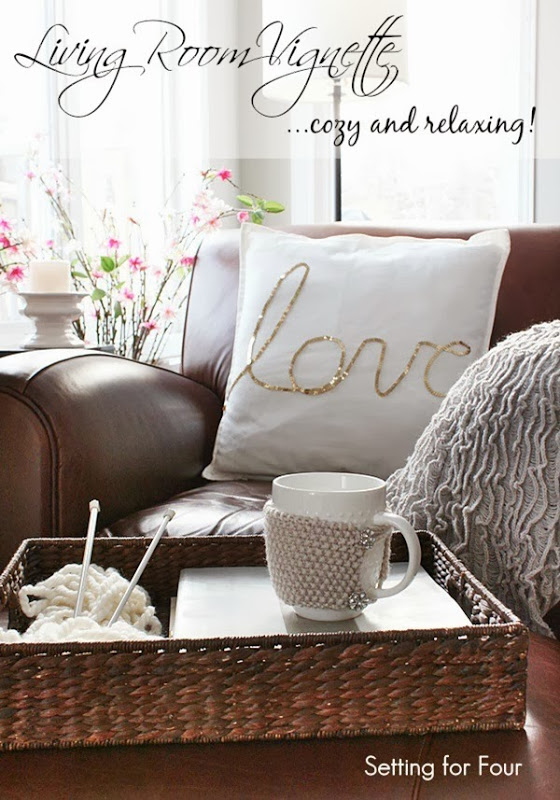 Cozy Home Decor - Living Room Vignette