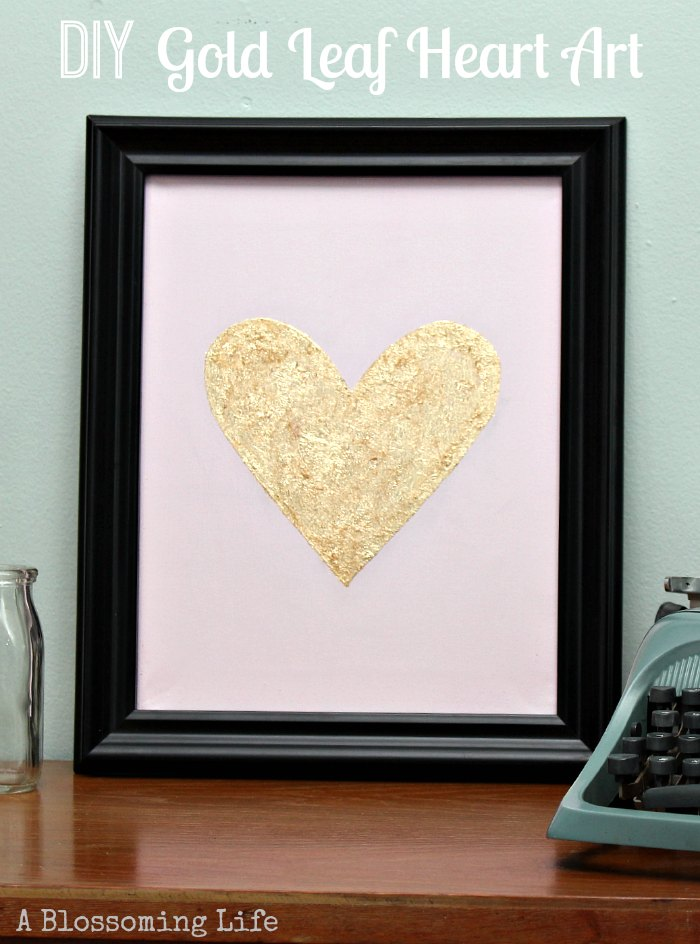 DIY-Gold-Leaf-Heart-Art