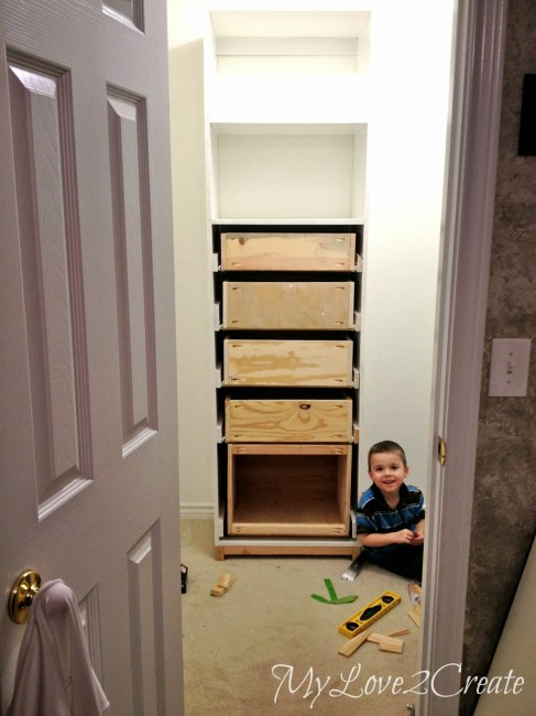 Build your own Closet Drawers
