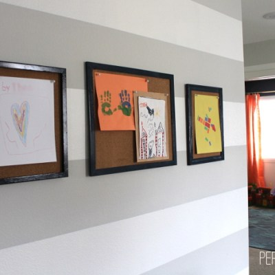 Quick & Easy DIY Kids Artwork Gallery