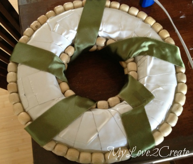 Wrap ribbon around wreath