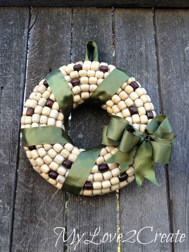 beaded spring wreath