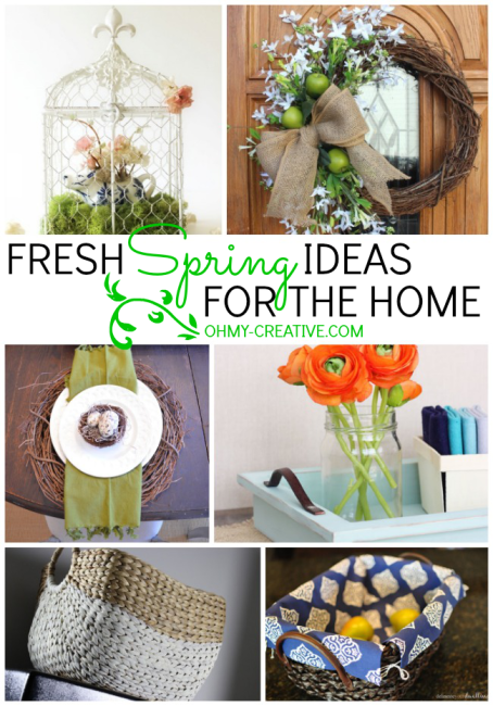 Fresh Spring Ideas For The Home | OHMY-CREATIVE.COM #SpringDecor