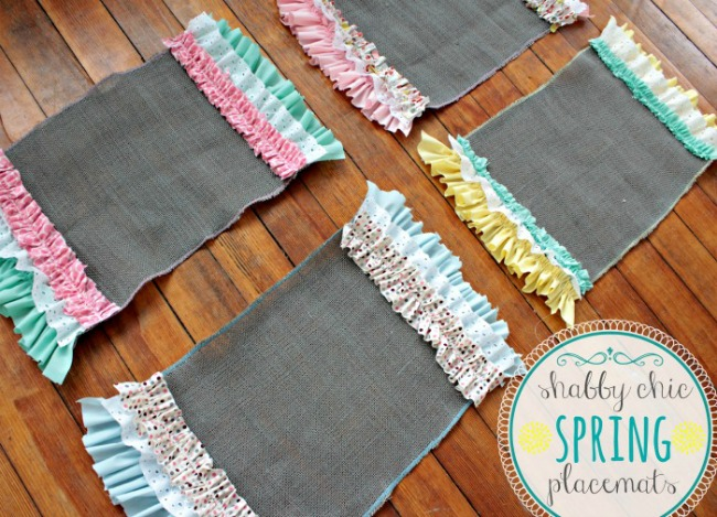 Shabby Chic Spring Placemats