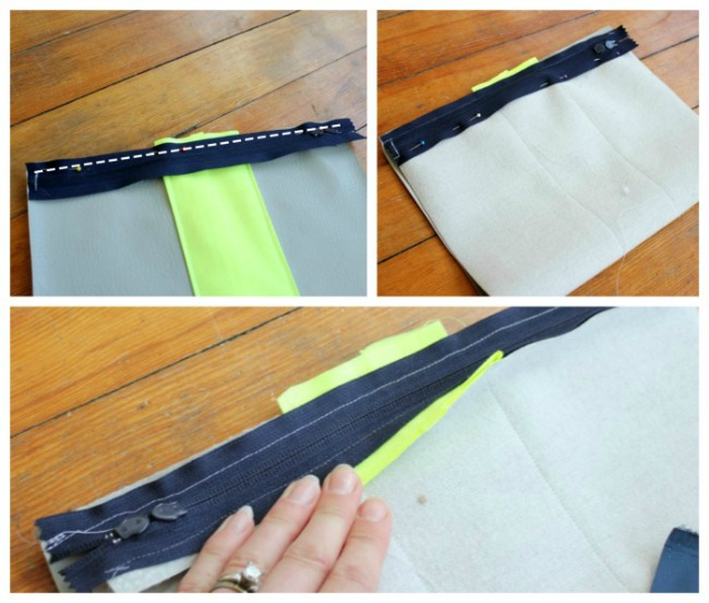 Attach Zipper to Leather
