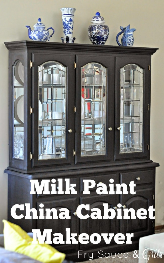 Milk Paint China Hutch Makeover Fry Sauce and Grits