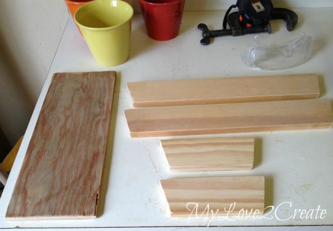 Cut wood to make tray