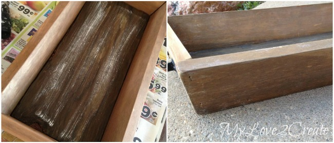 using white paint to age wood further