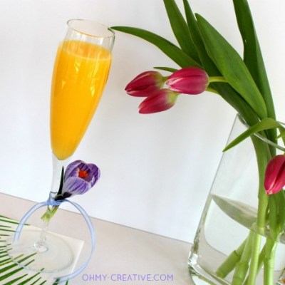 Non Alcoholic Mimosa Mocktail