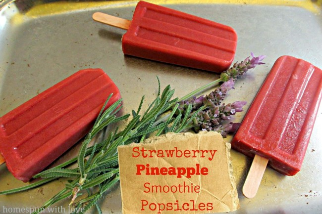 Strawberry Pineapple Smoothie Popsicles