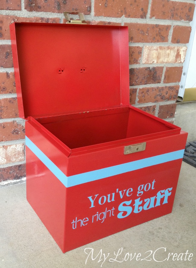 How to turn trash to treasure with a Metal box Makeover - now a fabulous decorating accent!