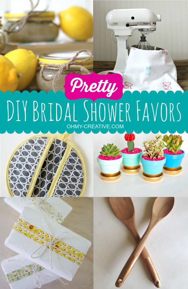 Pretty DIY Bridal Shower Favor Ideas | OHMY-CREATIVE.COM #BridalShower #ShowerFavorsPretty DIY Bridal Shower Favor Ideas | OHMY-CREATIVE.COM #BridalShower #ShowerFavors