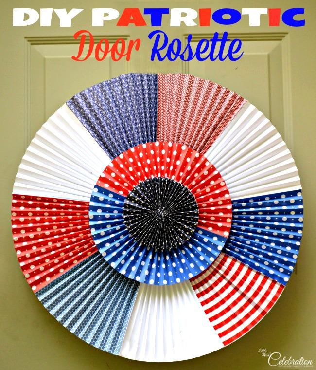 DIY Patriotic Door Rosette