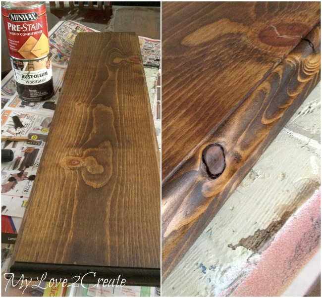 staining pine board