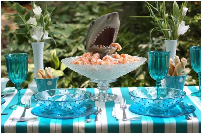 shark-dinner-party