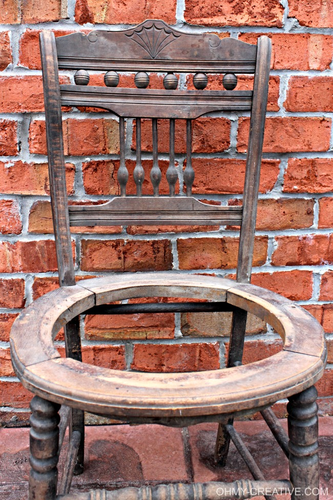 Ways to repurpose a seatless old vintage chair!