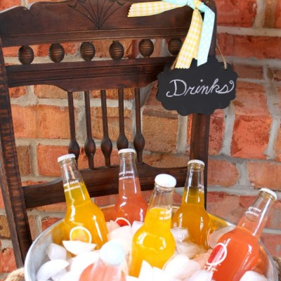 Vintage Chair Drink Stand