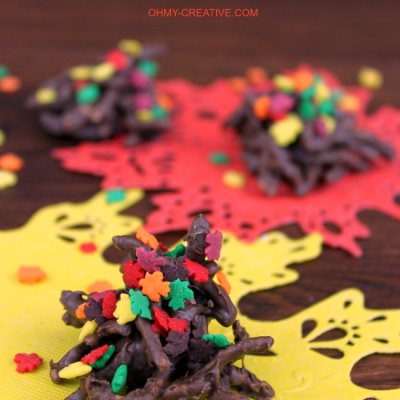 FALL CHOCOLATE HAYSTACK COOKIES