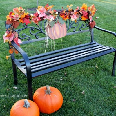 Easy To Decorate Fall Outdoor Bench