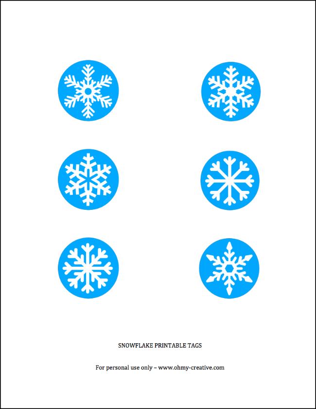 Free Printable Snowflake Tag   OHMY-CREATIVE.COM