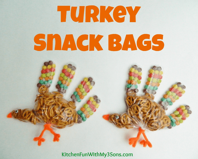 Kids Turkey Snack Bags