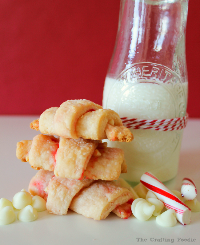 Peppermint White Chocolate Rugelach|The Crafting Foodie