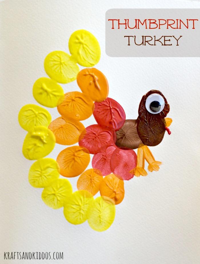 Thumbprint Turkey Craft using paint