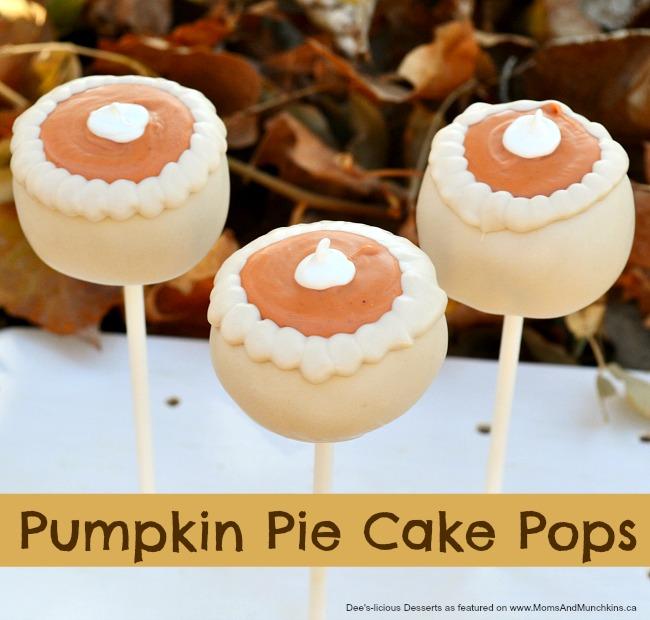 pumpkin pie cake pops
