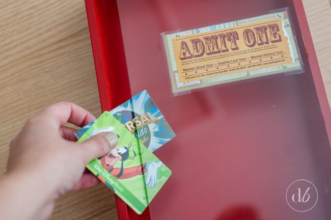 Collect and display treasured moments by creating a Ticket Stub Memory Box!