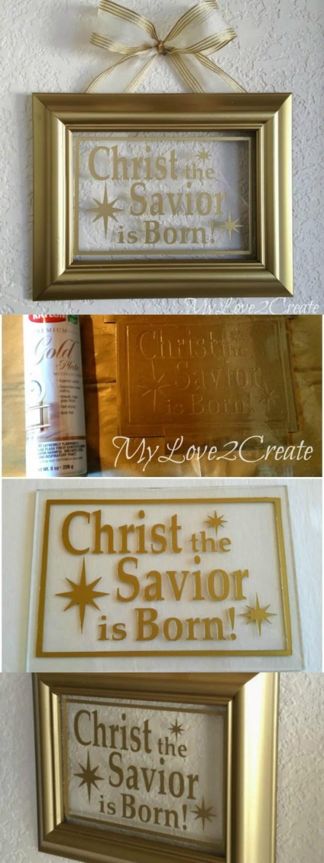 Christ the Savior is Born DIY Christmas Decor     My Love 2 Create for OHMY-CREATIVE.COM