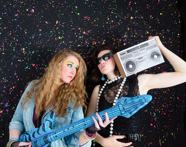 80s birthday party photo booth