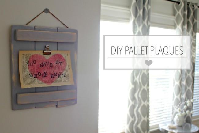 DIY Pallet Plaques