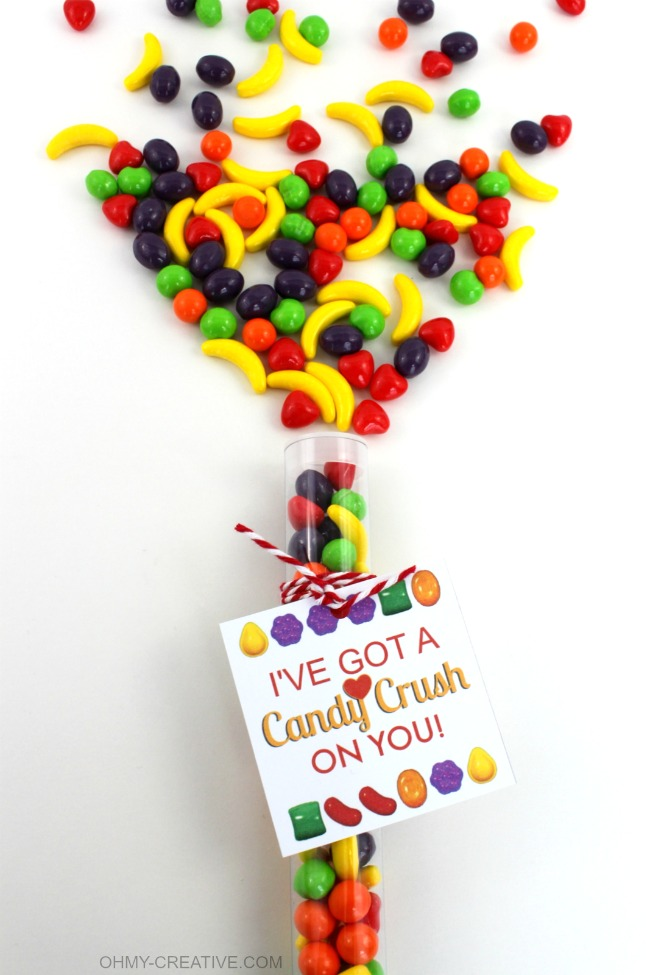 I've Got A Candy Crush On You Free Printable Gift Tag | OHMY-CREATIVE.COM