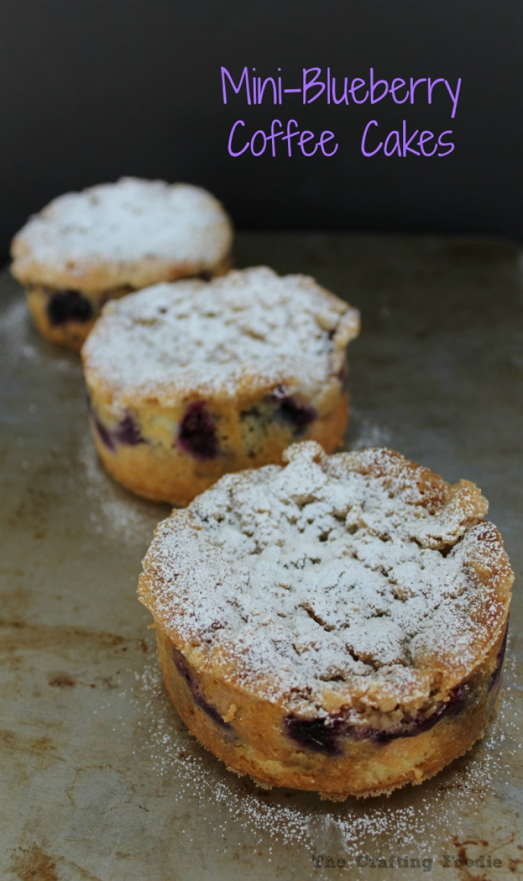 Mini Blueberry Coffee Cakes|The Crafting Foodie for OHMY-CREATIVE.COM