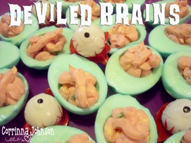 Halloween Brains Deviled Eggs