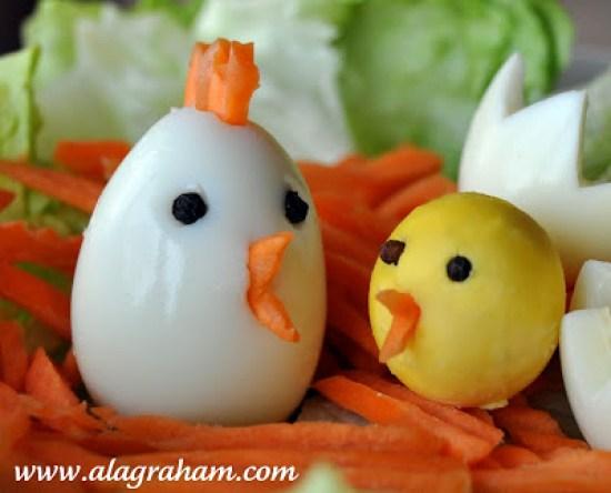 Hard Boiled Chick Eggs