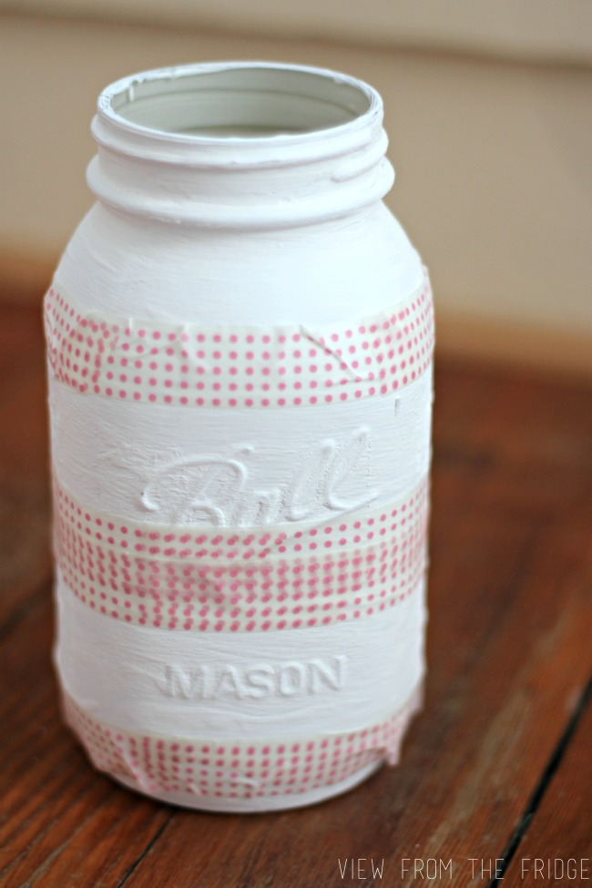 Preppy Distressed Mason Jar Vase | Oh My! Creative